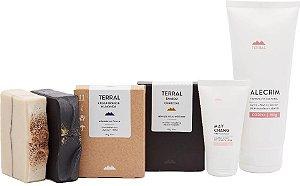 Terral Natural Kit Pele Oleosa - Creme Corporal Alecrim + Creme Facial May Chang + Sabonetes de Argila Branca e de Carvão Ativado