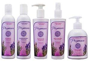 Prymeva Combo Palmarosa e Lavanda - Shampoo + Condicionador + Hidratante + Água Florada + Sabonete