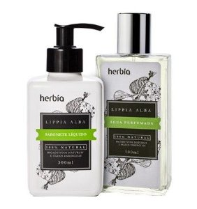 Combo Herbia Lippia Alba - Água Perfumada 100ml + Sabonete Líquido 300ml