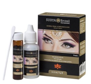 Surya Brasil Henna para Sobrancelhas Preto 3g