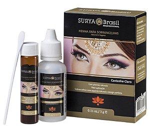 Surya Brasil Henna para Sobrancelhas Castanho Claro 3g