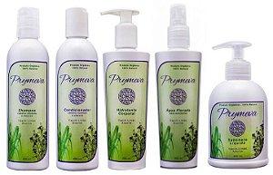Combo Prymeva Capim Limão e Alecrim - Shampoo + Condicionador + Hidratante + Água Florada + Sabonete