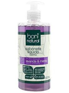 Boni Natural Sabonete Líquido Banho Lavanda e Menta 500ml