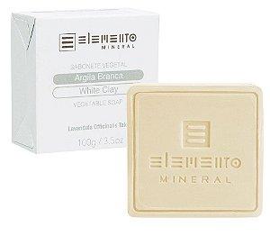 Elemento Mineral Sabonete Vegetal Argila Branca 100g