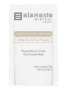 Elemento Mineral Argila Branca e Pó de Pérolas Máscara Facial 30g