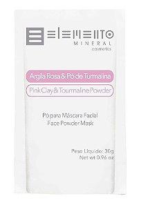 Elemento Mineral Argila Rosa e Pó de Turmalina Máscara Facial 30g