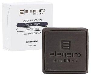 Elemento Mineral Sabonete Vegetal Argila Negra 100g