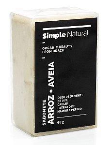 Simple Organic Sabonete Facial com Arroz e Aveia 60g