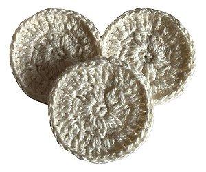 Eco Pads Discos de Crochê (Algodão) Reutilizáveis 3 un