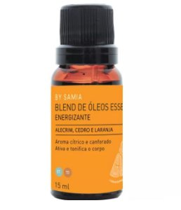 By Samia Energizante Blend de Óleos Essenciais 15ml