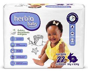Herbia Baby Fralda Ecológica Descartável M com 22 un