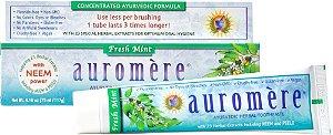 Auromere Creme Dental Ayurvédico Fresh Mint - Hortelã, Eucalipto e Canela 117g