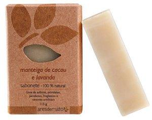 Ares de Mato Sabonete Natural Manteiga de Cacau e Lavanda 115g