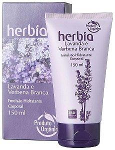 Emulsão Hidratante Orgânica Lavanda e Verbena Branca 150ml - Herbia