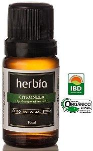Herbia Óleo Essencial de Citronela Orgânico 10ml