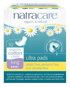 Natracare Absorvente Ultra Pads Long com Abas 10 un