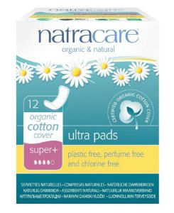 Natracare Absorvente Ultra Pads Super Plus sem Abas 12 un