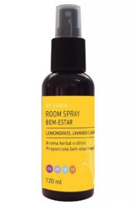 By Samia Bem-Estar Room Spray com Lemongrass, Lavanda e Laranja 120ml