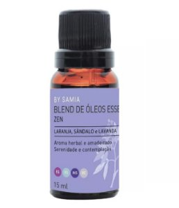 By Samia Zen Blend de Óleos Essenciais 15ml