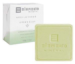 Elemento Mineral Sabonete Vegetal Argila Verde 100g