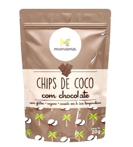 Monama Chips de Coco com Chocolate 20g