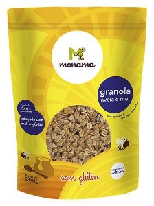 Monama Granola Aveia e Mel - Sem Glúten 200g