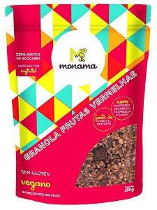 Monama Granola Aveia e Frutas Vermelhas - Sem Açúcar e Sem Glúten 200g