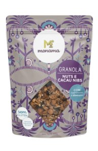 Monama Granola Nuts e Cacau Nibs com Açúcar de Coco - Sem Glúten 200g