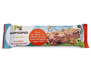 Monama Barra de Cereal Orgânica Castanha, Maçã, Uva Passa e Capim Santo