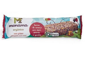 Monama Barra de Cereal Orgânica Açaí, Amora e Goiaba