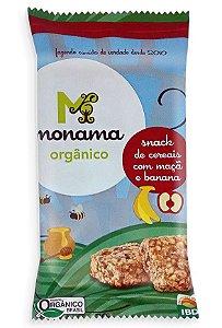 Monama Snack de Cereais com Maçã e Banana - Orgânico e Sem Glúten 30g