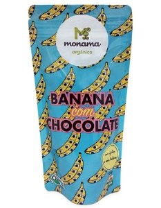 Monama Banana com Chocolate Orgânico 77% Cacau 50g