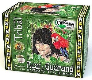 Tribal Brasil Chá de Erva Mate com Açaí e Guaraná Orgânico Caixa 15 Sachês