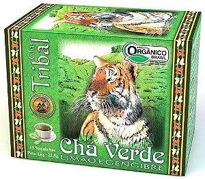 Tribal Brasil Chá Verde, Limão e Gengibre Orgânico Caixa 15 Sachês