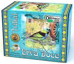 Tribal Brasil Chá de Erva Doce Misto de Ervas Finas Orgânico Caixa 15 Sachês