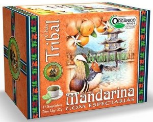 Tribal Brasil Chá de Erva Mate Mandarina com Especiarias Orgânico Caixa 15 Sachês