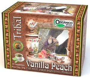 Tribal Brasil Chá de Erva Mate Vanilla Peach Orgânico Caixa 15 Sachês