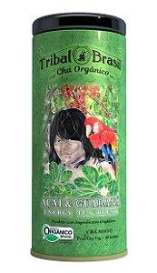 Tribal Brasil Chá de Erva Mate com Açaí e Guaraná Orgânico Lata 30 Sachês