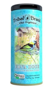 Tribal Brasil Chá de Erva Doce Misto de Ervas Finas Orgânico Lata 30 Sachês