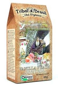 Tribal Brasil Chá de Erva Mate Vanilla Peach Orgânico Caixa 80g