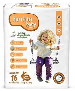 Herbia Baby Fralda Ecológica Descartável EXG com 16 un