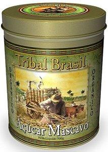Açúcar Mascavo Orgânico - Lata 500g - Tribal