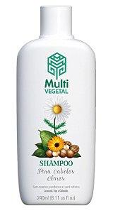 Multi Vegetal Shampoo de Camomila, Trigo e Calêndula Cabelos Claros 240ml