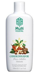 Multi Vegetal Condicionador de Nogueira, Cacau e Baunilha Cabelos Escuros 240ml