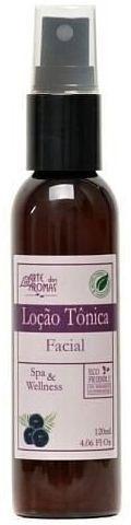 Loção Tônica Facial Açaí com Babosa e Hamamélis - Antioxidante 120ml - Arte dos Aromas