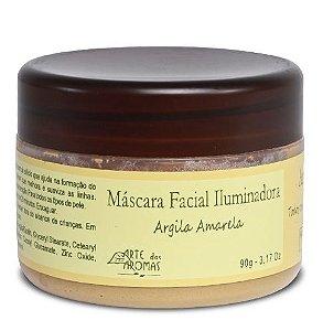 Arte dos Aromas Máscara Facial Iluminadora Argila Amarela 90g