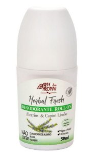 Arte dos Aromas Desodorante Roll-on Herbal Fresh Alecrim e Capim Limão 50ml