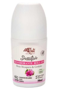 Arte dos Aromas Desodorante Roll-on Sensitive Rosa Mosqueta e Gerânio 50ml
