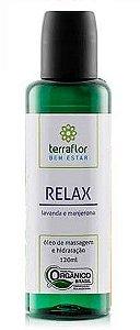 Terra Flor Óleo de Massagem e Hidratação Relax Orgânico 120ml