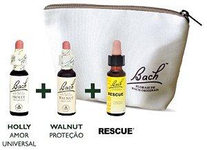Florais de Bach Kit Proteção + Necessaire